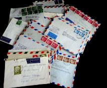 BRD Briefe, über 60 Belege Heuss, dabei viele Luftpostbelege. Schöner Posten.Germany covers, over 60