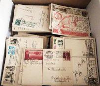 Schweiz, ab ca. 1900, Partie von über 400 Ganzsachen mit besseren Ausgaben, alle gelaufen.