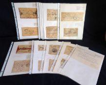 Nepal, ca. 1889-1940, Sammlung verschiedener Stempel. Cover: 32 Cover - von denen 22 vor 1940 sind -