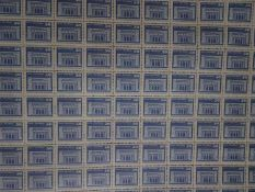 DDR, postfrische Bogen-Partie von Michel Nr. 2549w, 2561, 2602v, 2753, 2868, 2967, 6 verschiedene