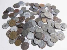 Über 120 Not- und Ersatzgeldmünzen, dabei auch seltenere. Schöne Fundgrube.Over 120 emergency and