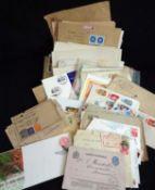 Briefe und Postkartenlos alle Welt, dabei auch ältere Karten, etc. Aus Auflösung.Letters and