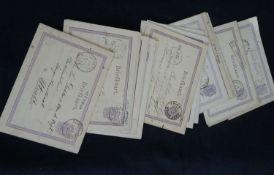 """Niederlande - 1871/78, 15 Postkarten """"Wappen im Kreis"""" 2 1/2 C. lila/violett mit Zierumrahmung ("""