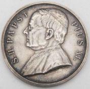 Erinnerungs - Medaille zur Pilgerfahrt nach Rom 1925. Silber 990. Papst Pius XI:. Durchmesser: ca.