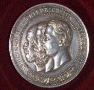 Preußen 3. Kaiserjahr 1888, Zinnmedaille. Erhaltung: vorzüglich - Stempelglanz3. Prussia Kaiser