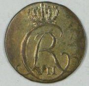 Dänemark 1805, 2 Skilling 1805, Christian VII. 1766-1808, sehr schön - vorzüglich, Katalog Nr.