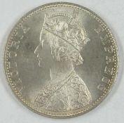 """Britisch-Indien Silbermünze """"One Rupee 1893"""", Erhaltung: vorzüglichBritish India silver coin """"One"""