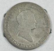 Polen 1829, Polen Alexander I. von Russland, 5 Zlotych mit Henkelspuren-Lötstellen, schönPoland 1829