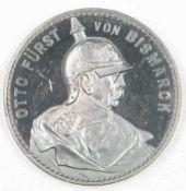 """Kaiserreich Silbermedaille """"Otto von Bismarck"""", Brustbild nach rechtsEmpire silver medal """"Otto von"""