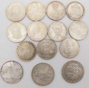 BRD 1972/2001, Lot 5.- DM und 10.- DM - Silbermünzen. Bestehend aus: 5.- DM: 1973 J - Jäger 411,