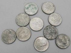 Österreich 1928-39, Lot 2 Schilling - Silbermünzen, bestehend aus 1928 Schubert, 1929 Billroth, 1931