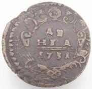 Russland 1731, 1 Denga, Anna Ivanovna, Erhaltung: ss.Russia 1731, 1 Denga, Anna Ivanovna, Condition: