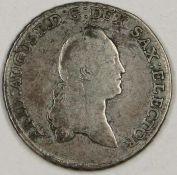 Sachsen-Albertinische Linie 1774, 2/3 - Taler, August-Friedrich III. Silber. Erhaltung: s.Saxony-