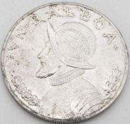 Panama 1947, 1 Balboa - Silbermünze. Erhaltung: vz.Panama 1947, 1 Balboa - silver coin. Condition:
