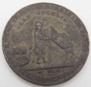 Schottland Dundee, halfpenny Token 1797, Dudhope Castle. Erhaltung: vz.Scotland Dundee, halfpenny