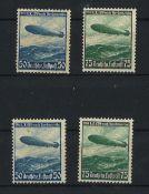 Deutsches Reich 1936, MI 606 + 607y, 606 + 607x, Flugpostmarken, ungebrauchtGerman Reich 1936, MI
