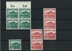 Deutsches Reich 1938, MI : 5 x 673-674, Eröffnung des Gautheaters, postfrischGerman Reich 1938,