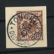 DP China, 1898, MI 6 II, Freimarken Steil. aufdruck, gestempelt, Top StempelDP China, 1898, MI 6 II,