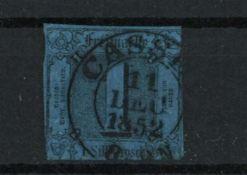 Altdeutschland Thurn & Taxis 1852 -1858, Mi 4, Freimarken Ziffer im Quadrat, gestempeltOld German