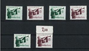 Deutsches Reich 1935, MI 3x 584 - 585, Welttreffen der Hitlerjugend, postfrischGerman Reich 1935, MI