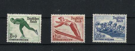 Deutsches Reich 1935, MI 600x - 602x, Olymp. Winterspiele, postfrischGerman Reich 1935, MI 600x -