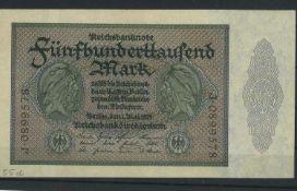 Weimarer Republik, 500.000 Mark, Rosenberg Nr. 87c, 1.5.1923, Zustand IWeimar Republic, 500,000