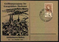 Alliierte Besetzung amerik./brit. Zone 1948, Mi.-Nr. 69 als EF auf Postkarte Schlüchtern / Hessen.