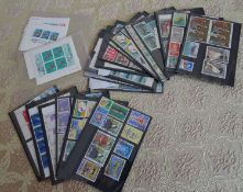 Japan, kleines Lot Steckkarten, meist postfrisch, 80er Jahre, dabei auch Blöcke. Bitte besichtigen!