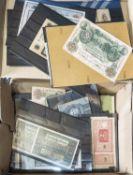 Deutschland Kaiserreich bis Drittes Reich, Konvolut Banknoten, überwiegend Inflation. Bitte