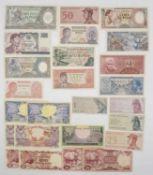Indonesien, Konvolut Banknoten, teilweise unzirkuliert. Bitte besichtigen.Indonesia, mixed lot of