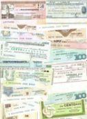 Italien , Lot Notgeld, 50 Lire bis 250 Lire. Erhaltung: s - ss. Insgesamt 38 Banknoten.Italy, Lot