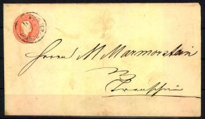 Österreich 1861, Ganzsache Mi.-Nr. U 2.Austria 1861, postal stationary Mi. U 2.- - -20.00 % buyer'