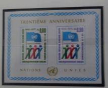 Sammlung United Nations Vereinte Nationen im Leuchtturm Vordruckalbum von 1969 - 1994 postfrisch