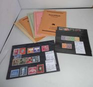 Lot Steckkarten, sowie 5 Tauschhefte, meist Europa. Bitte besichtigen!Lot stock cards, and 5 swap