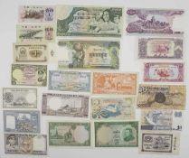 Lot Banknoten Asien, dabei Laos Mongolei, Nepal, Seychellen, China etc. teilweise unzirkuliert.