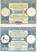 Zwei Internationale Antwortscheine /Coupon-Reponse international), 1 x Canada, 15 Cents und 1 x