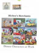 schönes dickes, halb gefülltes Dublettenalbum mit Disney Briefmarken, hoher Wert. Bitte