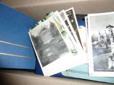 nice postcards and letter collection in a box. Safe treasure trove - please visit!