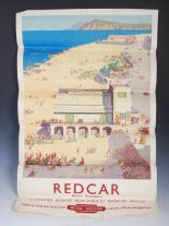 Lot 212 - Redcar, North Yorkshire, a British Railways advertising poster after Ellis Silas, Jordison & Co.,