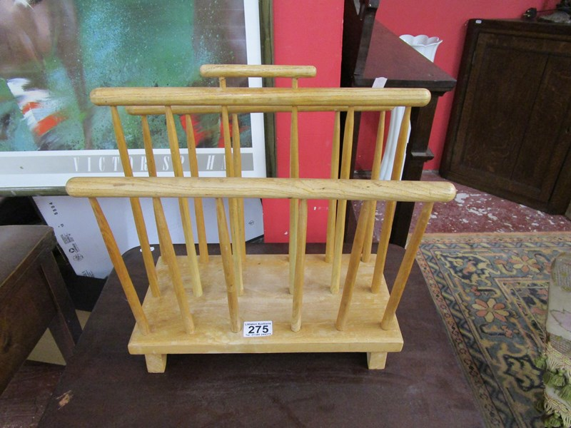 Lot 275 - Elm magazine rack