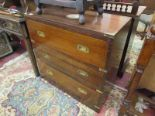 Lot 301 - Mahogany chest of 3 drawers