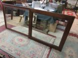 Lot 183 - 2 large wall mirrors to include 1 bevelled
