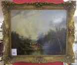 Lot 245 - 19C oil painting - Gypsy camp