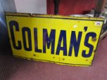 Lot 259 - Colman's enamel sign