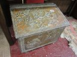 Lot 299 - Brass coal box