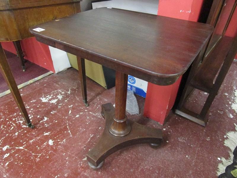 Lot 274 - Small antique mahogany pedestal table