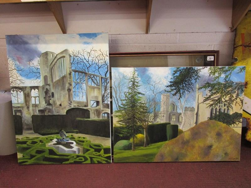 Lot 254 - 2 oils on canvas - Sudeley Castle