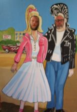 Lot 249 - Grease seaside/fairground picture board