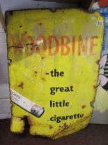 Lot 252 - Enamel Woodbine cigarette sign