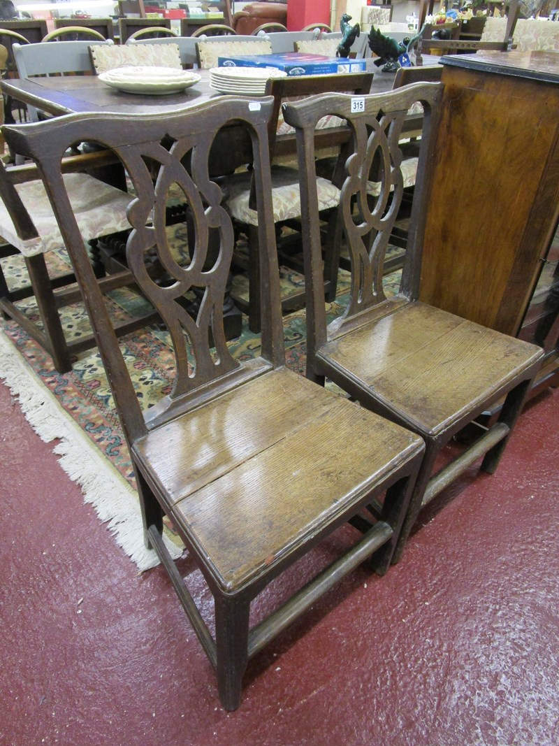 Lot 315 - Pair of oak country chairs
